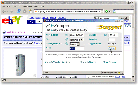 Ebay Bid Sniper >> Ez Sniper Free Ebay Auction Sniper Software Snipe Auctions Online